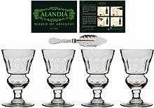 ALANDIA 4X Original Absinth-Gläser Authentisches