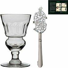 ALANDIA Absinth Glas und Löffel Set Premium |
