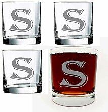 Alankathy Mugs 4-teiliges Glas-Set mit