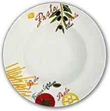 Alar Cat Cat 2427rund Pasta-Teller, Keramik,