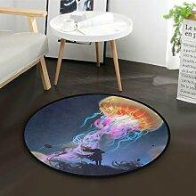 Alarge Fußmatte, rund, Galaxie, abstrakt,