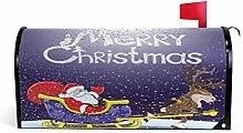 ALARGE Magnetbriefkastenabdeckung, Weihnachtsmann,