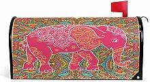 ALARGE Magnetischer Briefkasten-Deckel, rosa
