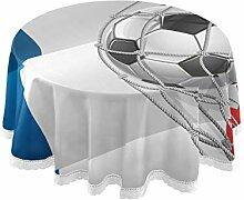 Alarge Runde Tischdecke, Fußball-Fußball,