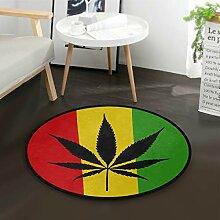 ALARGE Runder Teppich mit abstrakter