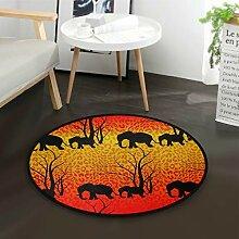 ALARGE Runder Teppich mit