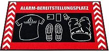 ALARM BEREITSTELLUNGSPLATZ FEUERWEHR Bettvorleger Teppich Oversize 150 x 75 cm