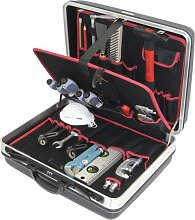 Alarm Hartschalenkoffer 3-h2, komplett, mit Sanitär-azubi-werkzeugpaket 3, 26-teilig,
