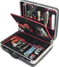 Alarm Hartschalenkoffer 6-h2, komplett, mit Sanitär-bau-werkzeugpaket 6, 24-teilig, 24