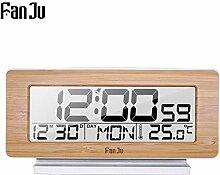 Alarmclocker8B LED Holz Digital Wecker