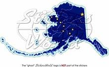 ALASKA Alaskischer Kartenflagge Amerikanischer