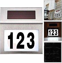 Alaskaprint Solar beleuchtete Hausnummer mit 2