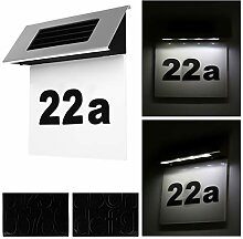 Alaskaprint Solar beleuchtete Hausnummer mit 4