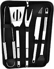 Alayth Grill Werkzeuge Grillset 5Pcs Edelstahl BBQ