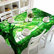 Alayth Tischtuch Gartentisch 3D-Druck Tischdecke