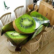 Alayth Tischtuch Gartentisch 3D Obst Kirschmuster