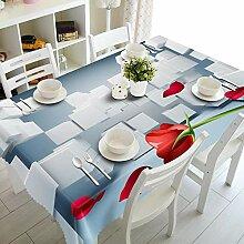 Alayth Tischtuch Gartentisch 3D Tischdecke Gelbes