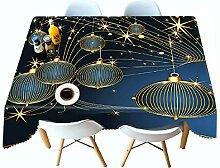 Alayth Tischtuch Gartentisch 3D Weihnachten