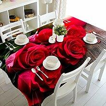 Alayth Tischtuch Gartentisch Rote Rose