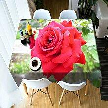 Alayth Tischtuch Gartentisch Weihnachtsessen 3D