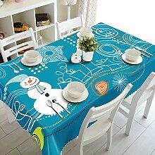 Alayth Tischtuch Gartentisch Weihnachtstischdecke