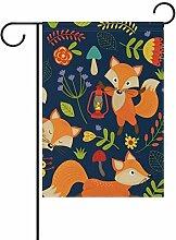 ALAZA Animal Fox Dekorative Garten Flagge
