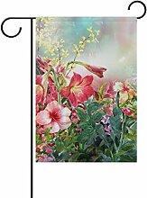 ALAZA Aquarell-Blumen-Frühling mit Blumen
