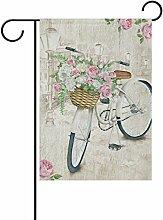 ALAZA Aquarell Fahrrad Blume Dekorative Doppel