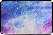 ALAZA Aquarell Galaxy Nebula Stern Fußmatte 15,7