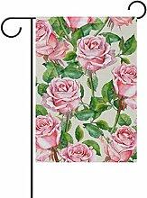 ALAZA Aquarell Rosa Rose mit Blumen Dekorative
