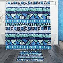 ALAZA Aztec Tribal Streifen Vintage-Duschvorhang