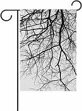 ALAZA Baum Ast Dekorative Doppelseitige Garten