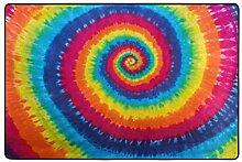 ALAZA Bunt Tie Dye Printed Bereich Teppich 4 x 6