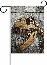ALAZA Dinosaurier Skelett Deko Garten Flagge