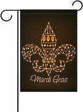 ALAZA Doppelseitiges Gold Fleur de Lis Mardi Gras