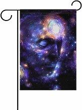 ALAZA Galaxy Gesicht Dekorative Doppelseitige