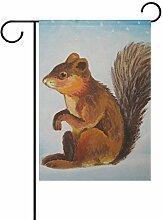 ALAZA Garten-Flagge mit Eichhörnchen, 71,1 x