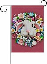 ALAZA Häschen-Blumen-Ostern Dekorative