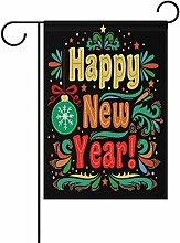 ALAZA Happy New Year Grußkarte Polyester Garten