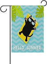 Alaza Hello Summer Funny Cat Floating On Pool
