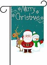 ALAZA Merry Christmas Schneemann Santa Dekorative