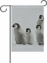 ALAZA Nette Pinguine Dekorative Doppelseitige