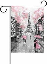 ALAZA Paris Eiffelturm dekorative Garten Flagge