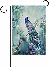 ALAZA Peacock Aquarell Dekorative Doppelseitige