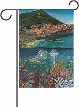 ALAZA Positano Italien Dekorative Doppelseitige
