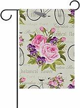ALAZA Rose Fahrrad-Vintage Blumen Dekorative