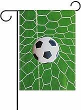 ALAZA Sport Fußball Deko Garten Flagge Polyester