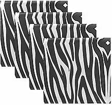 ALAZA Stoffservietten mit Zebramuster,