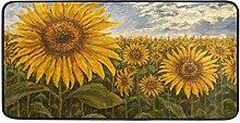 ALAZA Sunflower Stehmatte, Küchenteppich,