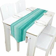 ALAZA Tischläufer Home Decor, Blaugrün Türkis
